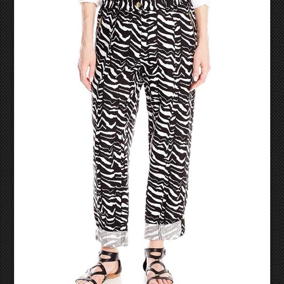 bf582794133b Calvin Klein NWT  99 Zebra White Black 100% Linen